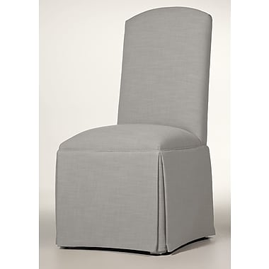 Darby Home Co Lamoille Traditional Skirted Upholstered Dining Chair; Pewter