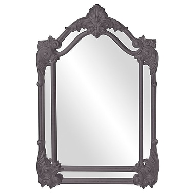 Astoria Grand Arched Black Accent Mirror; Charcoal