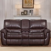 World Menagerie Deverell Leather Reclining Loveseat