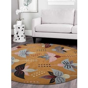 Winston Porter Britany Hand-Tufted Wool Gold Area Rug; 5' x 8'