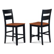 Alcott Hill Charlestown Solid Wood Dining Chair (Set of 2); Black