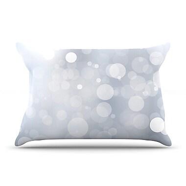 East Urban Home 'Glass' Bokeh Pillow Case; Gray