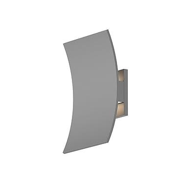 Latitude Run Aspinwall 1-Light LED Outdoor Flush Mount; Gray