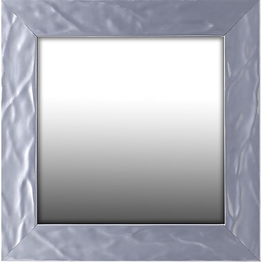 Orren Ellis Wave Square Accent Mirror; 11.75'' H x 11.75'' W x 1.75'' D