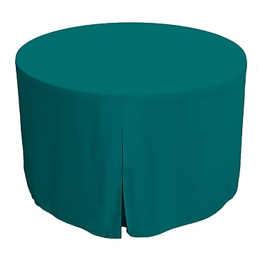 Tablevogue 72'' W Fitted Round Tablecover; Peacock