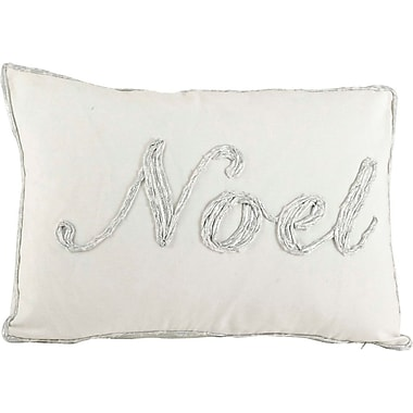 The Holiday Aisle Cotton Throw Pillow; Silver