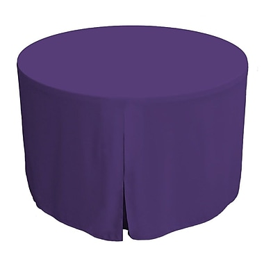 Tablevogue 48'' W Fitted Round Tablecover; Violet