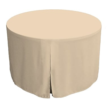 Tablevogue 48'' W Fitted Round Tablecover; Natural