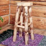 Loon Peak Abordale 30'' Round Seat Bar Stool; Ready To Finish