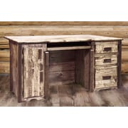 Loon Peak Abella Executive's Office Computer Desk; Stained and Lacquered