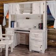 Loon Peak Abella Computer Desk w/ Hutch; Lacquered