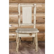 Loon Peak Abordale Solid Wood Dining Chair; Natural