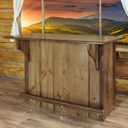 Loon Peak Abella Bar w/ Foot Rail; Stained and Lacquered