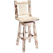 Loon Peak Abordale 30'' Square Seat Swivel Bar Stool; Ready To Finish