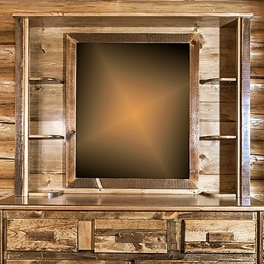 Loon Peak Abella Deluxe Dresser Mirror; Stained and Lacquered