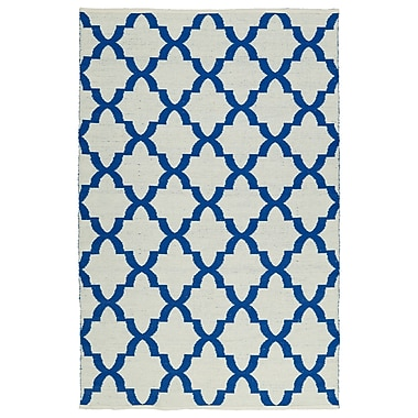 Winston Porter Tyesha Navy/White Indoor/Outdoor Area Rug; 9' x 12'