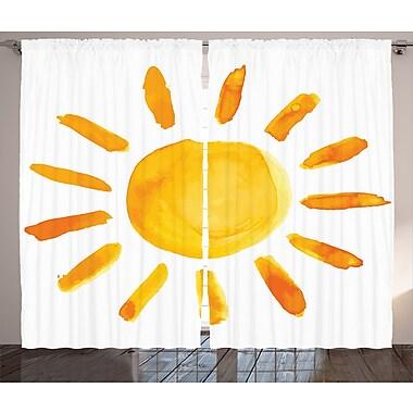 Harriet Bee Haymarket Graphic Print & Text Semi-Sheer Rod pocket Curtain Panels (Set of 2)