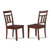 Alcott Hill Chancey Solid Wood Dining Chair (Set of 2); Mahogany