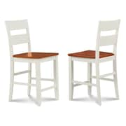 Alcott Hill Charlestown Solid Wood Dining Chair (Set of 2); White