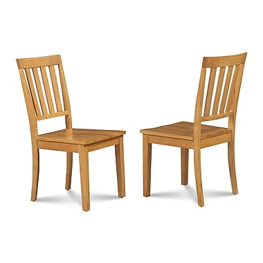 Alcott Hill Chicago Dining Solid Wood Dining Chair (Set of 2); Oak