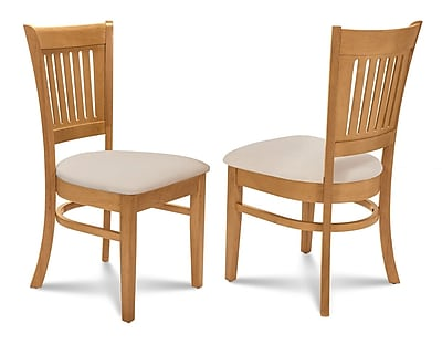 Alcott Hill Corcoran Microfiber Soft Padded Dining Side Chair (Set of 2); Oak