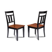 Alcott Hill Chancey Solid Wood Dining Chair (Set of 2); Black/Cherry