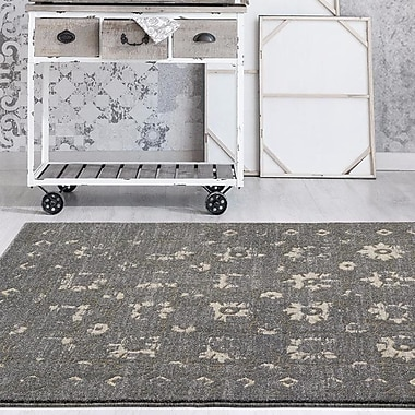 Alcott Hill Shillington Gold/Gray Indoor/Outdoor Area Rug; 8' x 10'