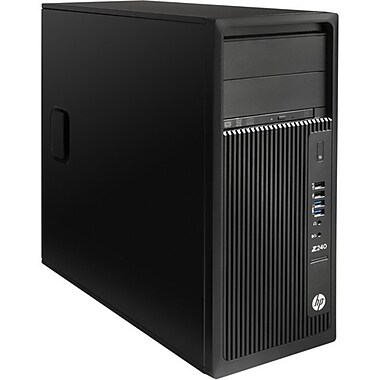 HP - PC de table Z240 L9K18UT#ABA, 3,2 GHz Intel Core i5-6500, DD 1 To, 8 Go DDR4 SDRAM, Windows 7 Pro