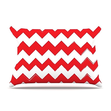 East Urban Home 'Candy Cane' Pillow Case; Red