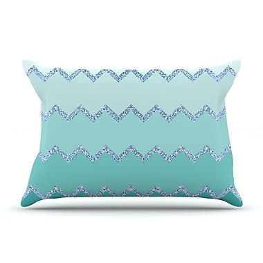 East Urban Home Monika Strigel 'Avalon Coral Ombre' Pillow Case; Green