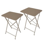 Ebern Designs Yessenia Cafe Tray Table (Set of 2); Coffee