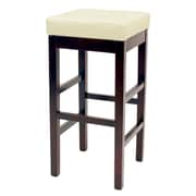 Red Barrel Studio Kimberling 27'' Wood Bar Stool; Beige