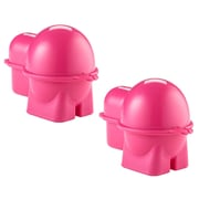 Rebrilliant Egg To-Go Bento Box Specialty Food Storage (Set of 2); Pink