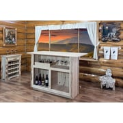 Loon Peak Abordale Bar w/ Wine Storage; Lacquered