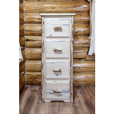 Loon Peak Abordale 4 Drawers File Cabinet; Lacquered