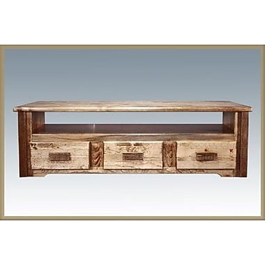 Loon Peak Abella TV Stand; Stained and Lacquered