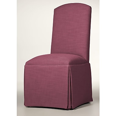 Darby Home Co Lamoille Traditional Skirted Upholstered Dining Chair; Fuchsia
