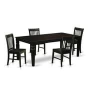 Darby Home Co Beesley 5 Piece White Dining Set; Black