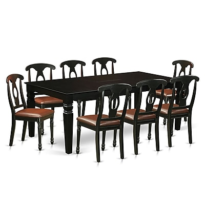 Darby Home Co Beesley 9 Piece Hardwood Dining Set; Black