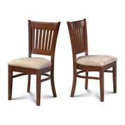Alcott Hill Corcoran Microfiber Soft Padded Dining Side Chair (Set of 2); Espresso