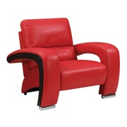 Brayden Studio Meredith Contemporary Arm Chair; Red