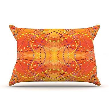 East Urban Home Nikposium 'Summer' Pillow Case; Gold