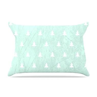 East Urban Home Snap Studio 'Pine' Pillow Case; Aqua/Blue