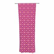 Nandita Singh Squares Pattern Geometric Sheer Rod Pocket Curtain Panels Panels (Set of 2)