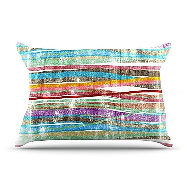 East Urban Home Frederic Levy-Hadida 'Fancy Stripes Light' Pillow Case; Light