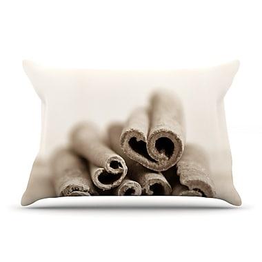 East Urban Home Iris Lehnhardt 'Cinnamon' Pillow Case; Gray