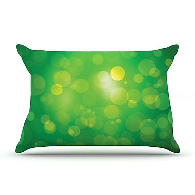East Urban Home 'Glass' Bokeh Pillow Case; Green