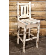 Loon Peak Abordale 30'' Clear Lacquer Bar Stool; Clear Lacquer Finish