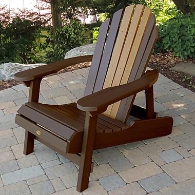 Longshore Tides Deerpark Coastal Adirondack Chair; Weathered Acorn/Toffee