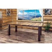 Loon Peak Abella 4 Post Extendable Dining Table; Stain & Lacquer Finish